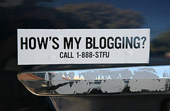 Blogging bumper sticker